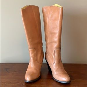 Madewell Brown Heritage Heel Leather Boot